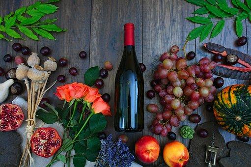 Rose, Poppy, Dried Plant, Color, Chestnut, Still Life