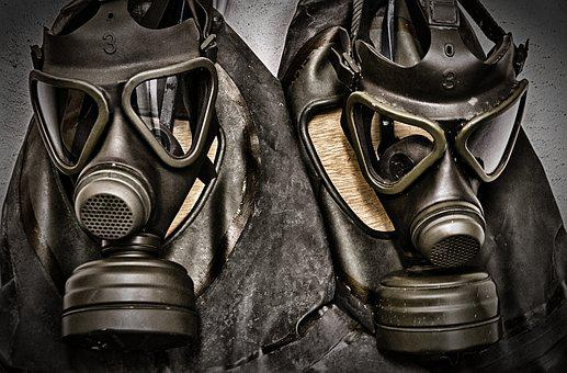 Gas Mask, Protective Suit, Delete Exercise