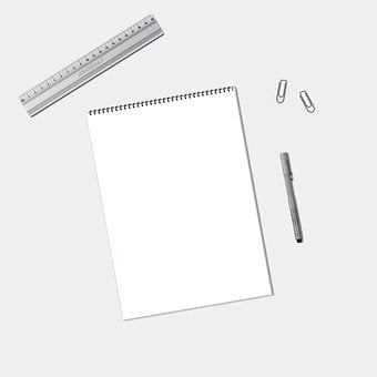 Ecommerce, Mockup, Notebook, Blank, Paper, Flatlay