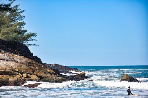 Summer, Surf, Brazil, Florianopolis, Beach, Sea, Water