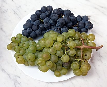 Grapes, Plate, Fruit, Food