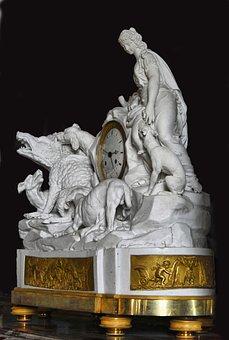 Castle Of Compiègne, France, Pendulum, Time, Antique
