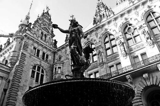 Hamburgensien, Town Hall, Hammonia Fountain, Monument