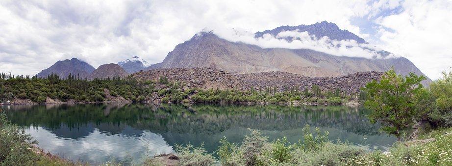 Upperkachora, Lake, Skardu, Mountains, Range, Gb, North