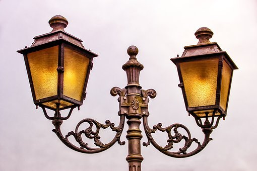 Street Lamp, Lantern, Lamp, Lighting, Wrought Iron
