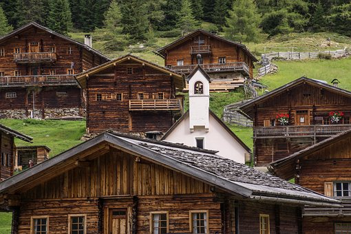 Houses, Wood, Tyrol, Austria, Villgraten, House, Nature