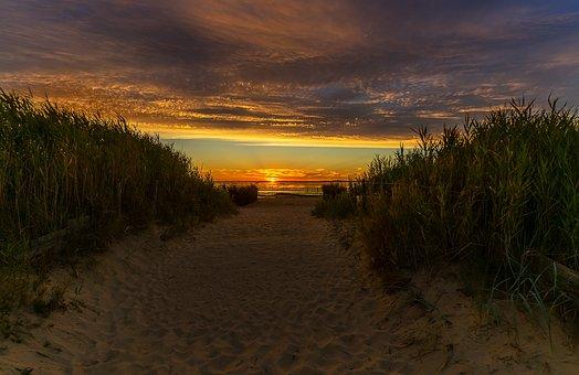 Nature, Sunset, Landscape, Evening, Sky, Dusk, Sea