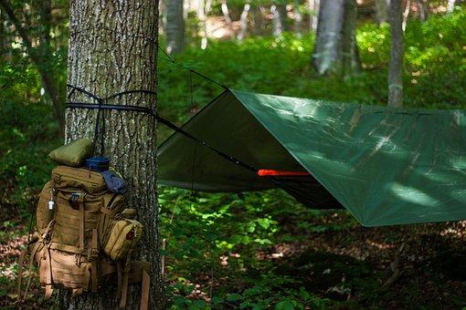 Outdoor, Hammock, Bushcraft, Survival, Stock, Trekking