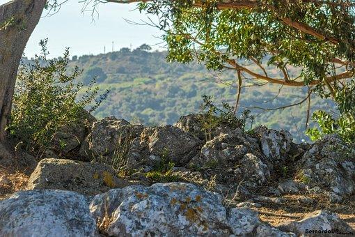Vila Franca De Xira, Rock, Sky, Mountains, Green