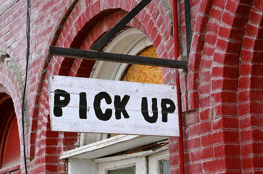 Brick, Wall, Pick Up, Sign, Feed Store, Rustic