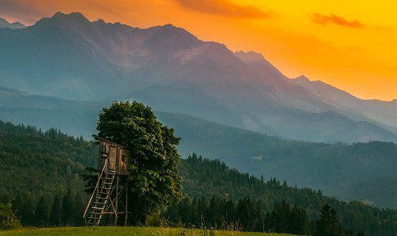 Sunrise, Spisz, Lachance, Tatry, Landscape, Mountains