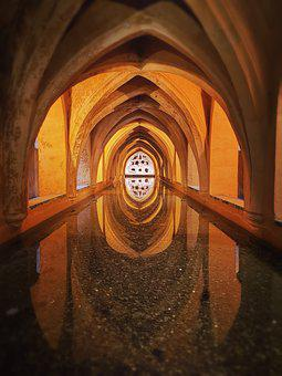 Alcazar, Baths, Rainwater, Tanks, Palace, Seville