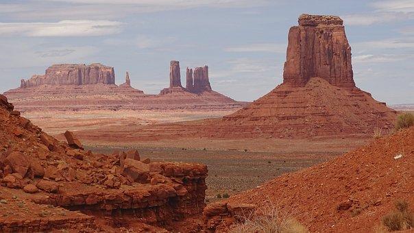 Monument Valley, Utah, Usa, Nature, Cliff, America