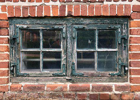 Window, Brick, Facade, Decay, Forget, Weathered, Wall