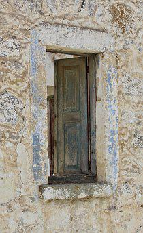 Window, Wood, Weathered, Old, Shutters
