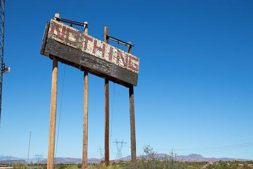 Arizona, Desert, Nothing, Sign, America, 404