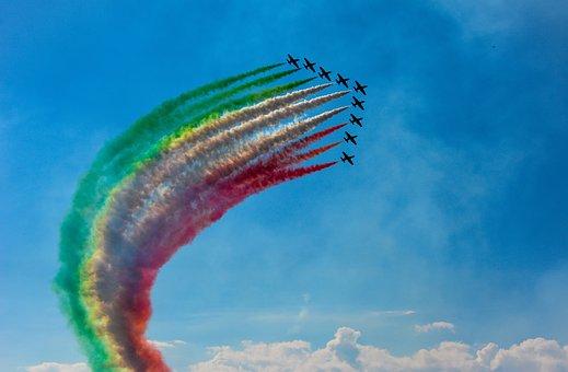 Patrol, Aircraft, Aerobatics, Sky, Military, Flight
