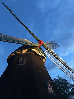 Windmill, Wing, Sky, Mill, Old, Architecture, Pinwheel