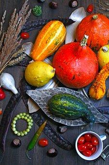 Pumpkin, Autumn, Autumn Still Life, Vegetables