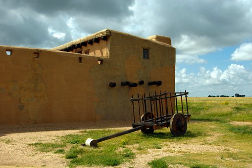 Cart At Bent's Old Fort, Fort, Trading Post, Colorado