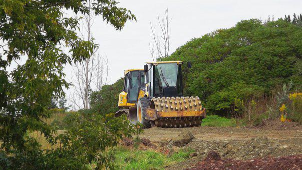 Tractor, Bulldozer, Area, Construction, Excavator