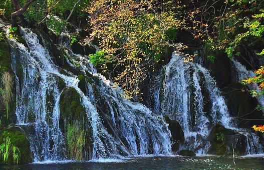 Plitvice, Waterfall, Croatia, Nature, National Park