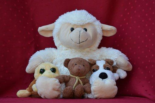 Doudou, Plush, Sheep, Turtle, Bear, Dog, Cute, Hug