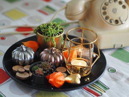 Autumn, Decoration, Pumpkin, Phone, Harvest