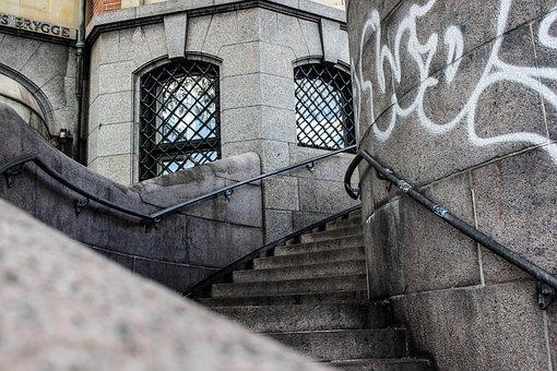 Stairs, Architecture, City, Copenhagen, Denmark, Stone