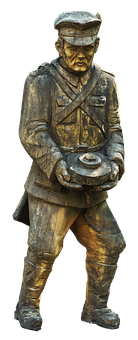 Soldier, Expression, Pioneer, Holzfigur, Sculpture