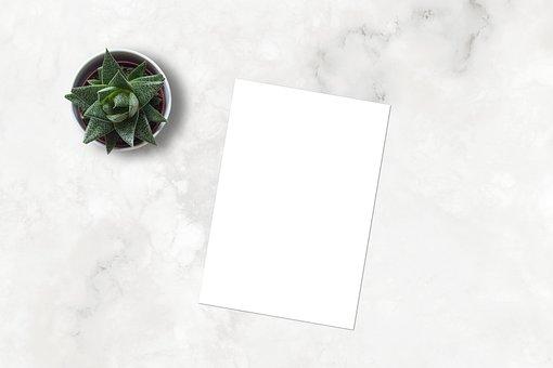 Marble, Mockup, Flatlay, Ecommerce, Blank, Paper
