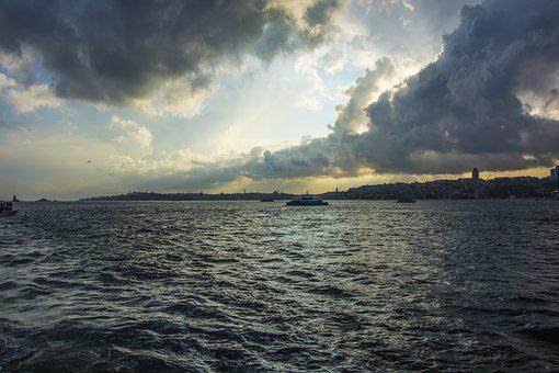 Sunset, Istanbul, Sky, Landscape, Turkey, Solar, Beach
