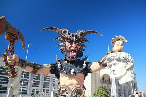 Viareggio, Mask, Carnival, Tuscany, Italy