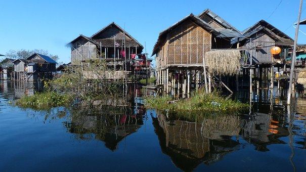 Myanmar, Inle, Lake, House