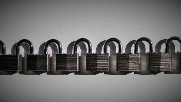 Padlocks, Row, Lock