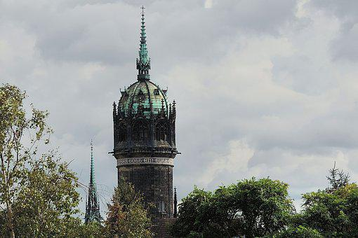 Steeple, Castle Church-wittenberg, Germany, Luther