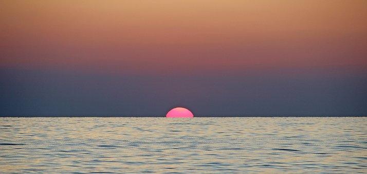 Sunset, Adriatic Sea, Mediterranean, Italy, Vacations