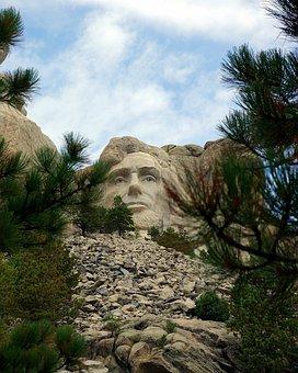 Rushmore's Lincoln, Mount, Rushmore, Usa, President