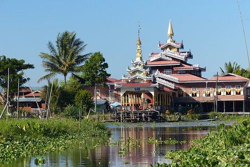 Myanmar, Inle Lake, Temple, Nyaungshwe