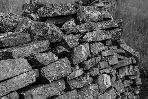 Dry Stone Wall, Wall, Old, Stones, Ruins