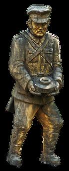 Soldier, Expression, Pioneer, Holzfigur, Sculpture