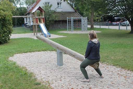 See Saw, Playground, Play, Children's Playground