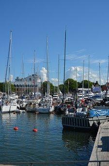 Almedalen Valley, Visby, Port, Sailing