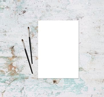 Mockup, Paint, Flatlay, Paper, Picture, Portfolio