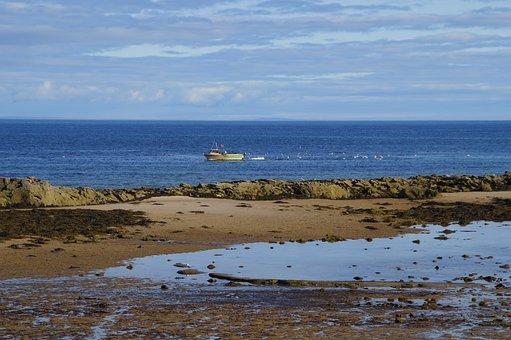 Lossiemouth, Scotland, Lighthouse, Sea, Landscape