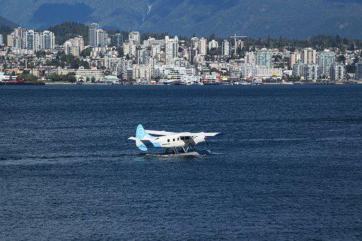 Seaplane, Sea, Vancouver, British Columbia, Canada