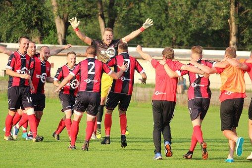 Football, Win, Pleasure, Sport, Victory, Men