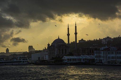 Sunset, Istanbul, Turkey, Background, Architecture