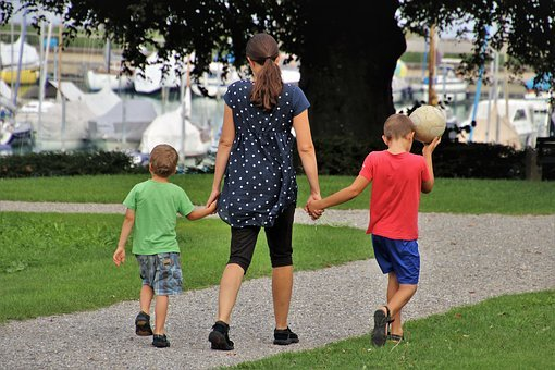 Family, Mom, Childhood, The Ball, Children, Spacer