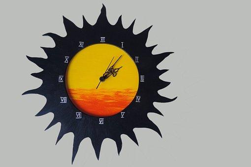 Clock, Wall Clock, Time Of, Wood, Deco